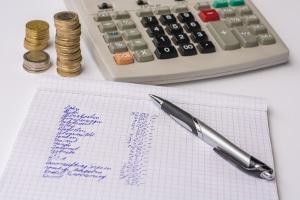 Ein Muster-Haushaltsplan erleichtert die Eintragungen.