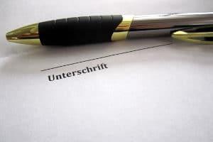 Das abstrakte Schuldanerkenntnis bedarf der Schriftform.